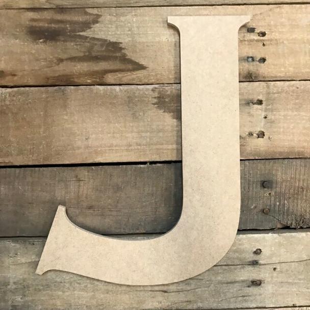 Unfinished Wood Letter Paintable DIY Craft-J