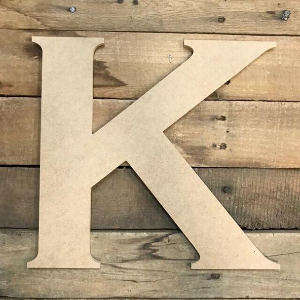 Unfinished Wood Letter Paintable DIY Craft-K