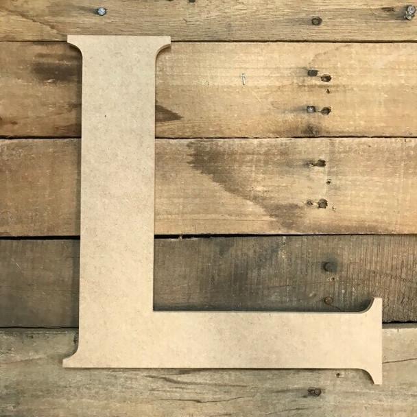 Unfinished Wood Letter Paintable DIY Craft-L