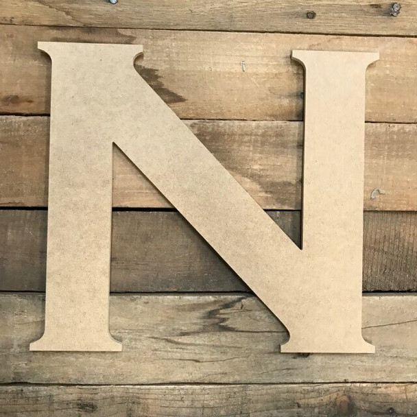 Unfinished Wood Letter Paintable DIY Craft-N