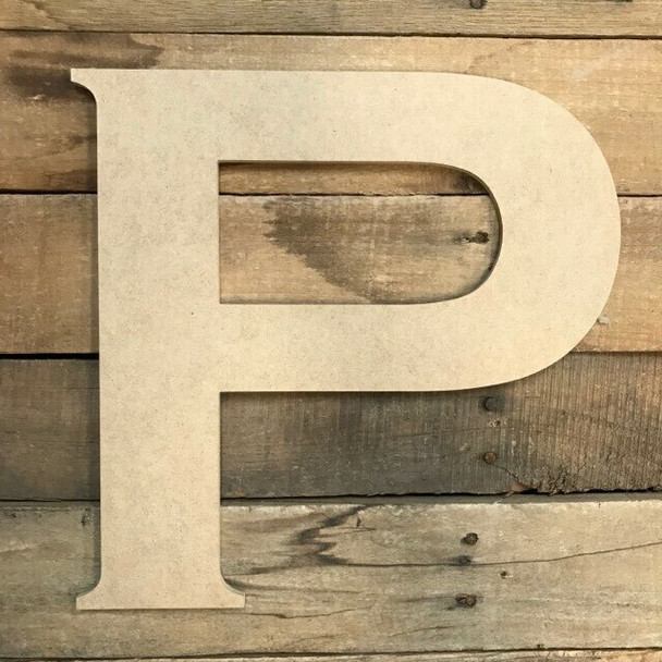 Unfinished Wood Letter Paintable DIY Craft-P