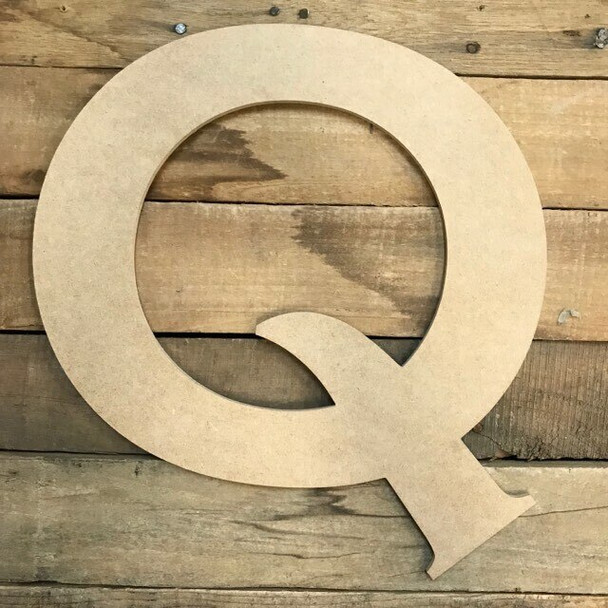Unfinished Wood Letter Paintable DIY Craft-Q