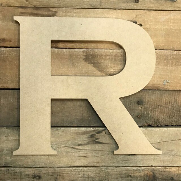Unfinished Wood Letter Paintable DIY Craft-R