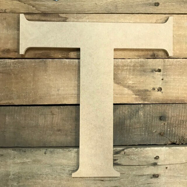 Unfinished Wood Letter Paintable DIY Craft-T