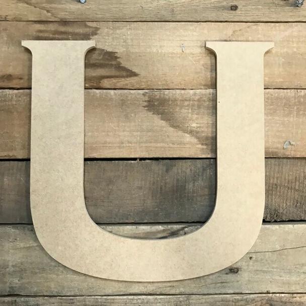 Unfinished Wood Letter Paintable DIY Craft-U