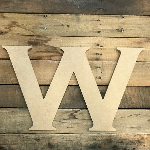 Unfinished Wood Letter Paintable DIY Craft-W