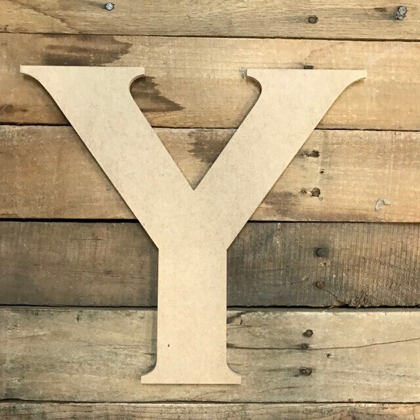 Unfinished Wood Letter Paintable DIY Craft-Y