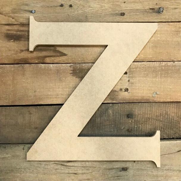 Unfinished Wood Letter Paintable DIY Craft-Z