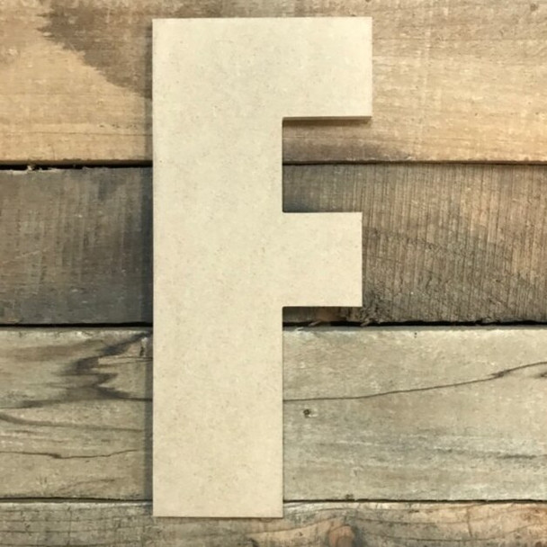 Wooden Letter Block Font Unfinished DIY Wall Decor-F