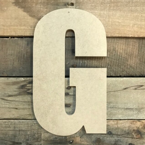 Wooden Letter Block Font Unfinished DIY Wall Decor-G