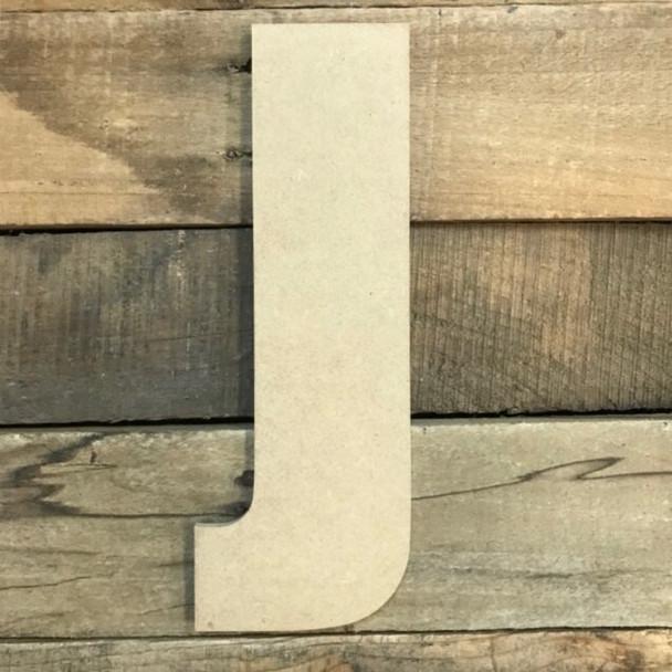 Wooden Letter Block Font Unfinished DIY Wall Decor-J