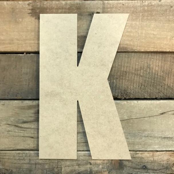 Wooden Letter Block Font Unfinished DIY Wall Decor-K