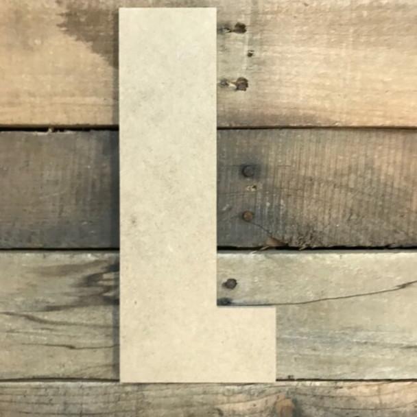 Wooden Letter Block Font Unfinished DIY Wall Decor-L