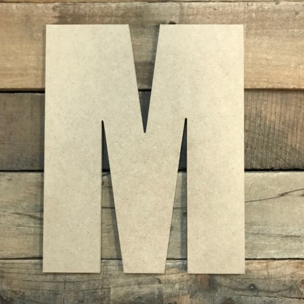 Wooden Letter Block Font Unfinished DIY Wall Decor-M