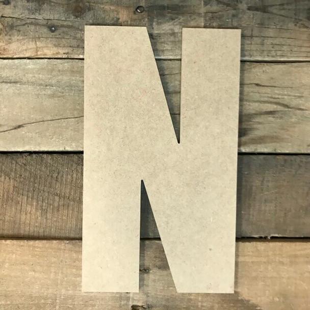 Wooden Letter Block Font Unfinished DIY Wall Decor-N