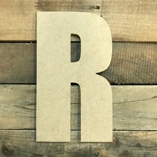 Wooden Letter Block Font Unfinished DIY Wall Decor-R