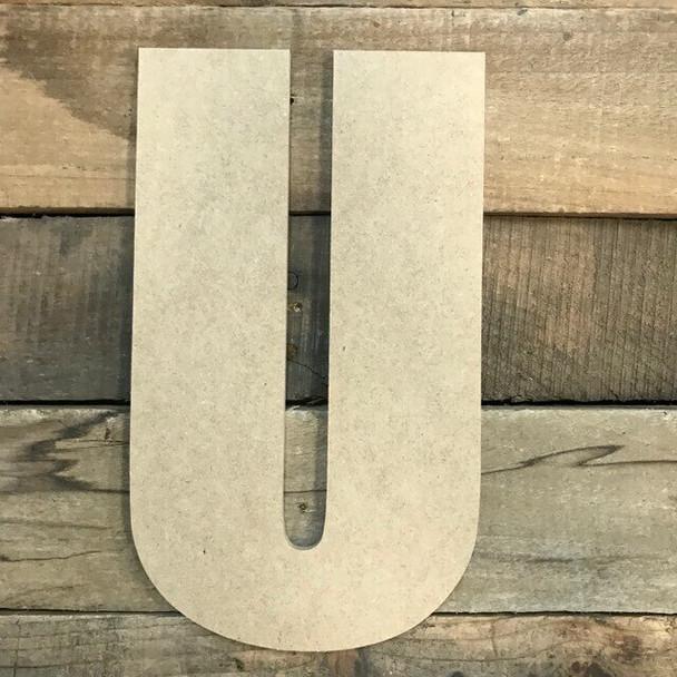 Wooden Letter Block Font Unfinished DIY Wall Decor-U