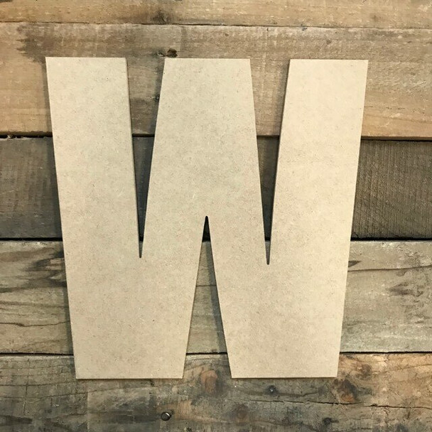Wooden Letter Block Font Unfinished DIY Wall Decor-W
