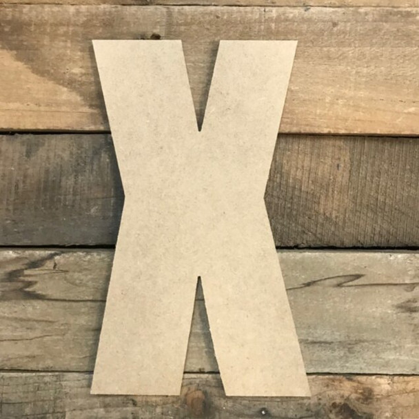 Wooden Letter Block Font Unfinished DIY Wall Decor-X