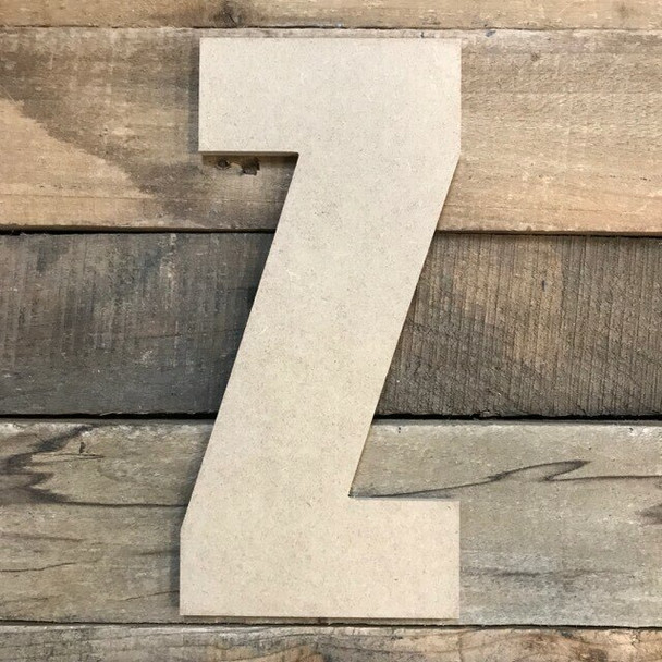 Wooden Letter Block Font Unfinished DIY Wall Decor-Z