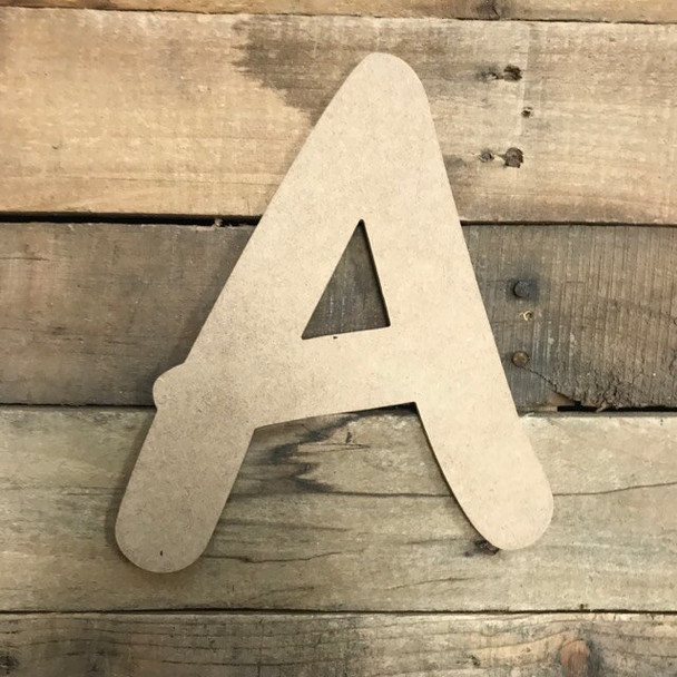 Wooden Letters Unfinished MDF Comic Font-A