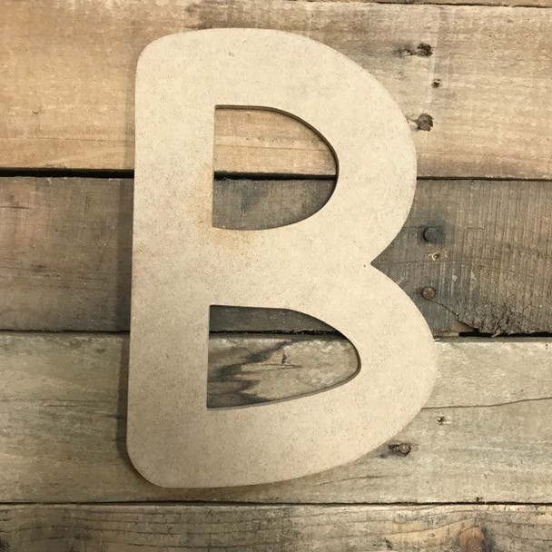 Wooden Letters Unfinished MDF Comic Font-B