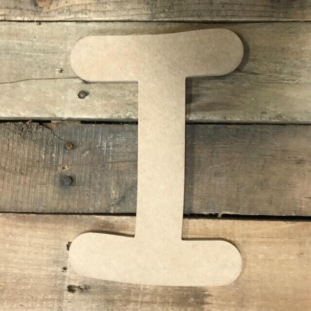 Wooden Letters Unfinished MDF Comic Font-I