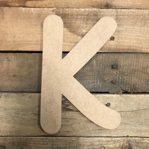 Wooden Letters Unfinished MDF Comic Font-k
