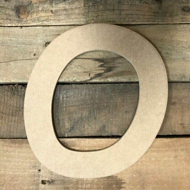 Wooden Letters Unfinished MDF Comic Font-O