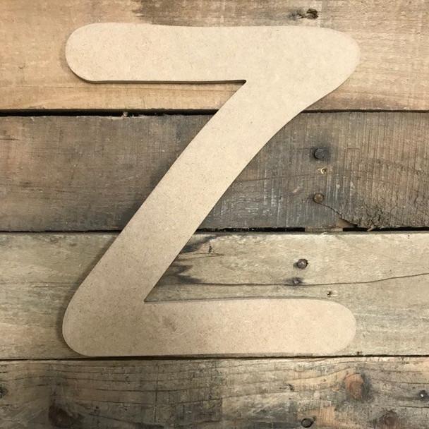 Wooden Letters Unfinished MDF Comic Font-Z