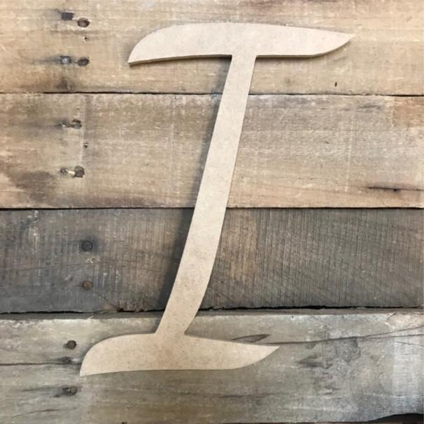 Wooden Letters Unfinished MDF Dancing Script-I