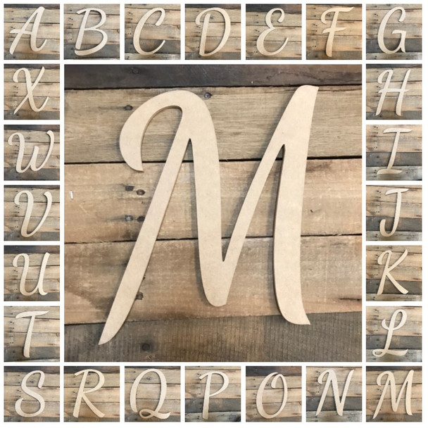 Wooden Letters Unfinished MDF