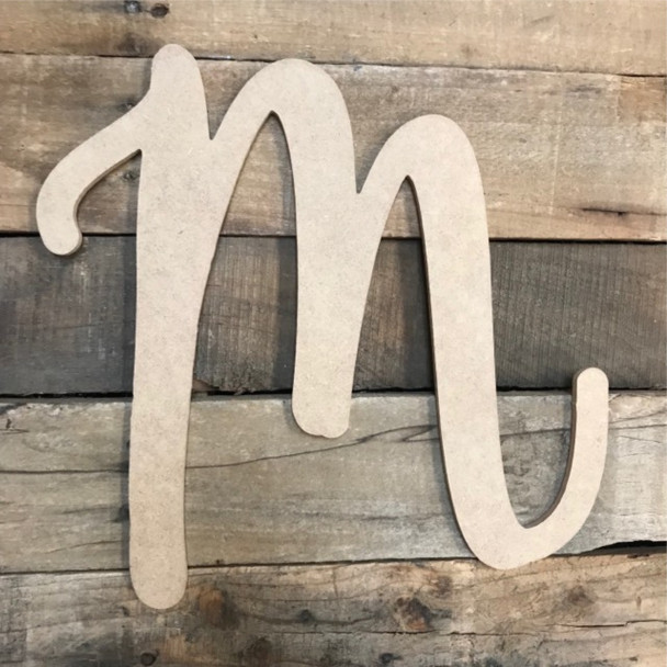 Colleen Font, Wooden Letters Unfinished MDF, Paint-able DIY Craft