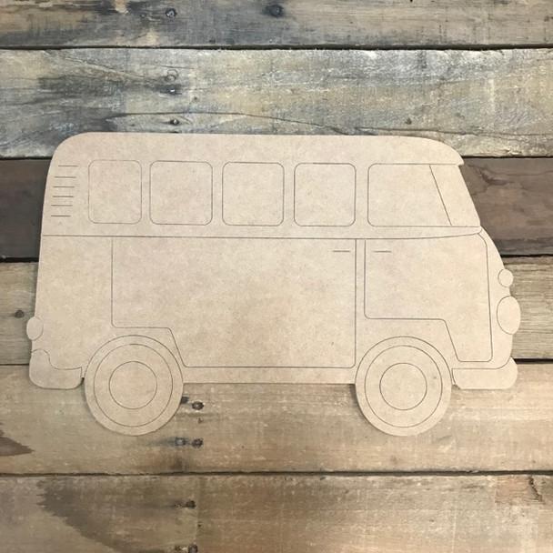 Van Cutout, Unfinished Shape, Paint by Line
