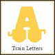 Train Font Wooden Letters