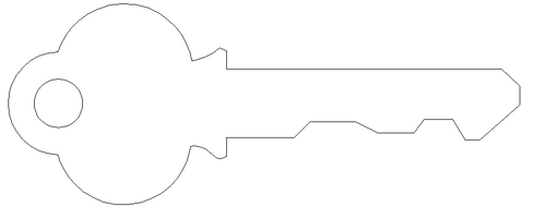 Key 3 Unfinished Cutout Wooden Shape Paintable Wooden Mdf