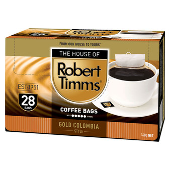 Gold Colombia Coffee Bags 28s