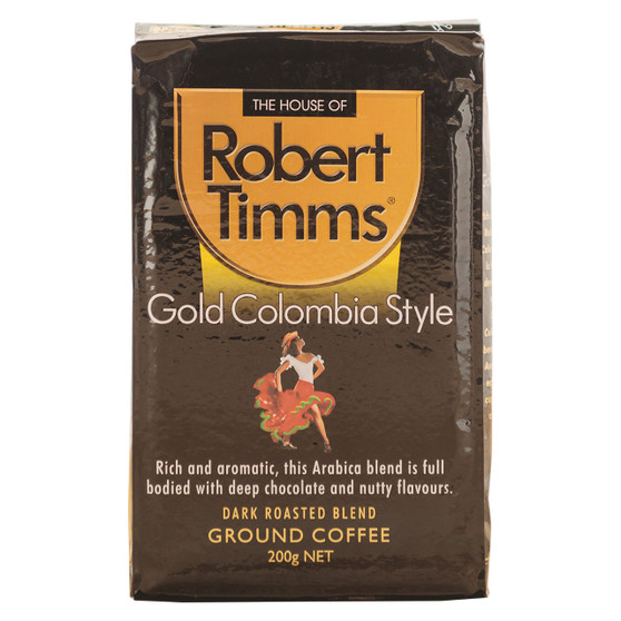 Gold Colombia Ground Coffee 200g