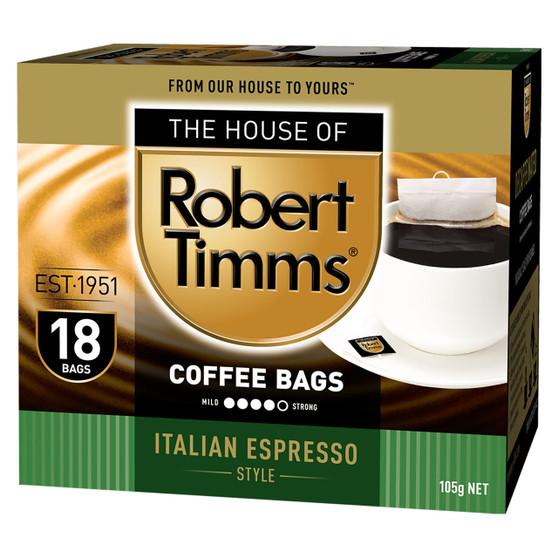 Italian Espresso Coffee Bags 18s