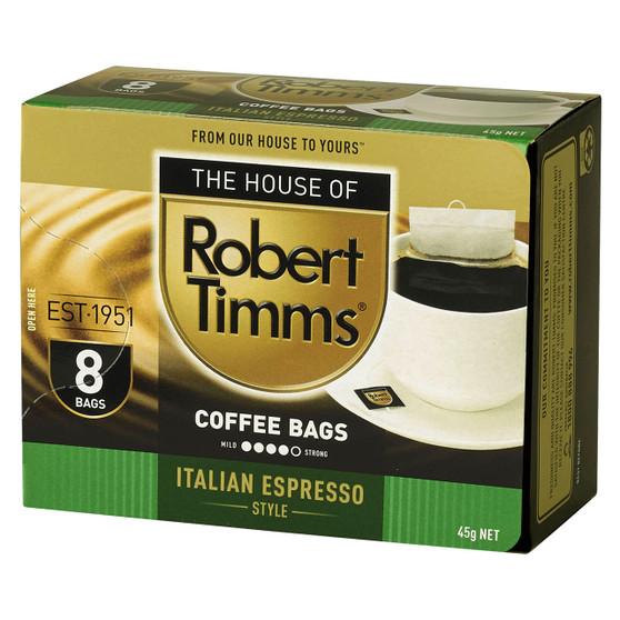 Italian Espresso Coffee Bags 8s