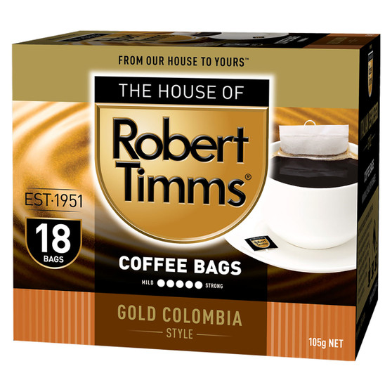Gold Colombia Coffee Bags 18s