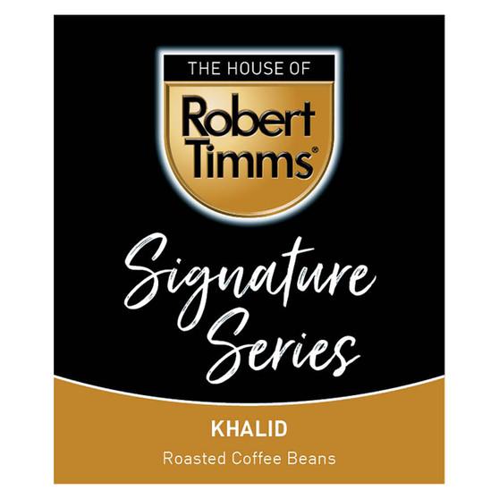 Signature Series Roasted Coffee Beans Khalid Dark 500g