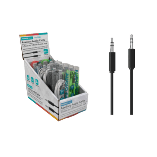 Bulk Auxiliary Audio Cables - 12ct
