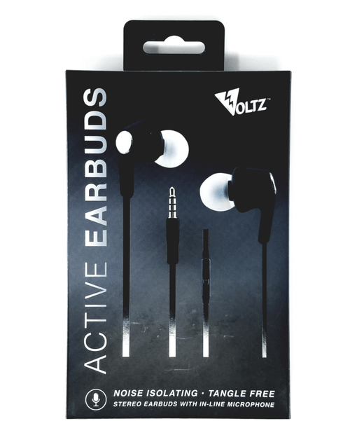 Voltz Active Performance 3.5mm Earbuds - Black