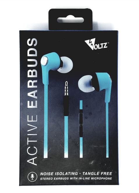 Voltz Active Earbuds - Blue