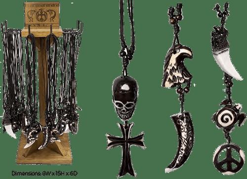 Unique Necklaces Counter Display - 36 pc