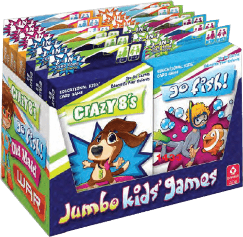 Jumbo Kids Card Games Counter Display - 12 pc