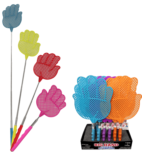 Big Hand Fly Swatter Counter Display - 24pc