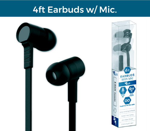 4ft Earbuds w/Mic