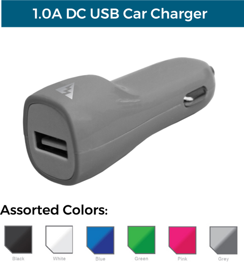 1.0A DC USB Car Charger